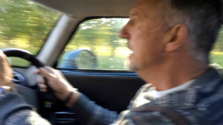 Sir Ian Botham in the Lightning GT